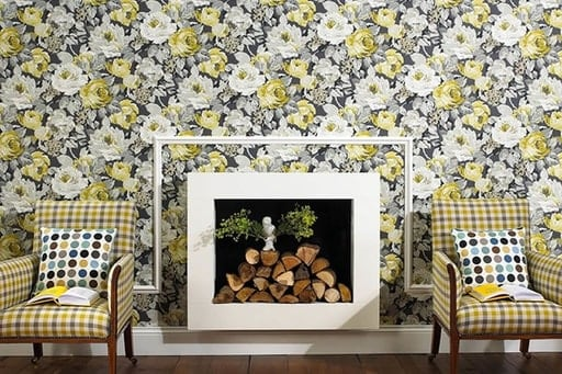 A wallpaper with an elegant look that conveys a luxurious atmosphere