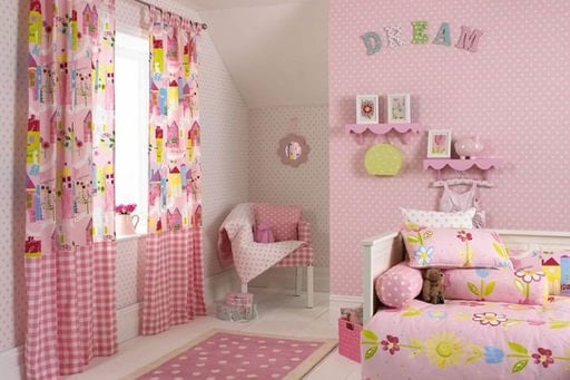 A variety of wallpaper models in different colors made for children rooms